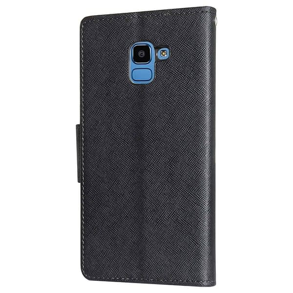 Royal Star Full Protection Fancy Diary Card Wallet Stand View Flip Case Back Cover for (Samsung Galaxy J6 (2018 Launch), Black) 7
