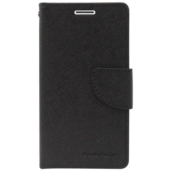 Royal Star Full Protection Fancy Diary Card Wallet Stand View Flip Case Back Cover for (Samsung Galaxy J6 (2018 Launch), Black) 1