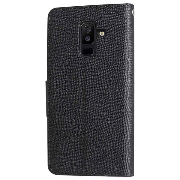 Royal Star Full Protection Fancy Diary Card Wallet Stand View Flip Case Back Cover for Samsung Galaxy J8 (2018 Launch) (Black) 4