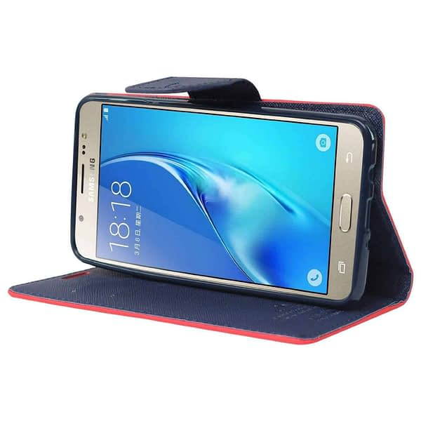 Royal Star Full Protection Fancy Diary Card Wallet Stand View Flip Case Back Cover for (Sony Xperia E4, Red) 4