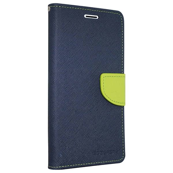 Royal Star Full Protection Fancy Diary Card Wallet Stand View Flip Case Back Cover for (Vivo Y21, Blue) 1