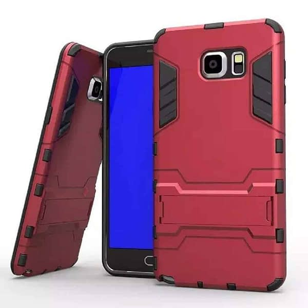 Royal Star Graphic Kickstand Hard Dual Rugged Armor Hybrid Bumper Back Cover Case for (Samsung Galaxy Note 5, Red) 1