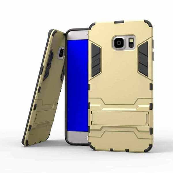 Royal Star Graphic Kickstand Hard Dual Rugged Armor Hybrid Bumper Back Cover Case for (Samsung Galaxy S6 Edge Plus, Gold) 1