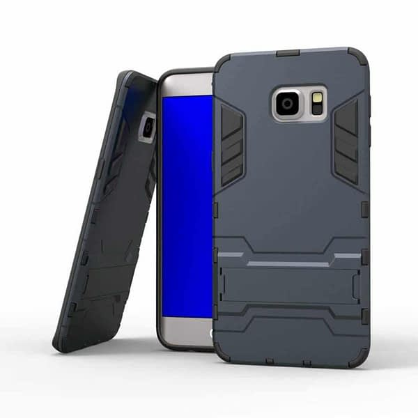 Royal Star Graphic Kickstand Hard Dual Rugged Armor Hybrid Bumper Back Cover Case for (Samsung Galaxy S6 Edge Plus, Navy Black) 1
