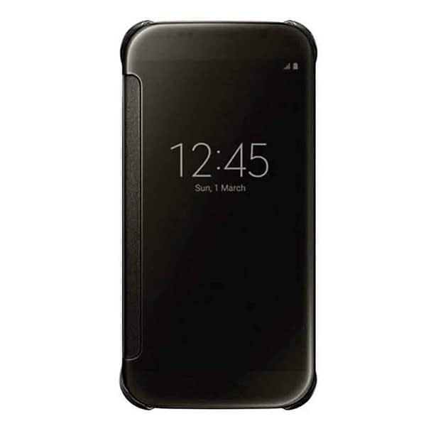 Royal Star Luxury Clear View Mirror Flip Smart Cover Case for (Samsung Galaxy S8, Black) 4