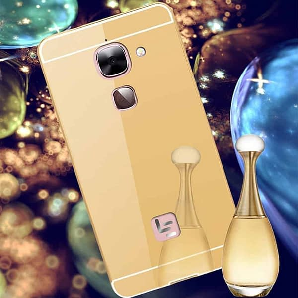 Royal Star Luxury Metal Bumper + Acrylic Mirror Back Cover Case For LeEco LeTv Le 2 / Le 2 Pro (5.5 inch Display ) (Gold Mirror) 1