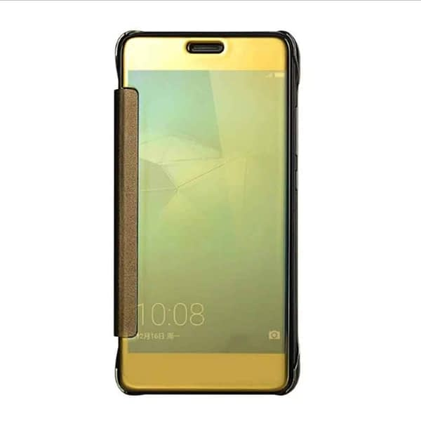 Royal Star Luxury Smart Clear View Mirror Flip Cover Back Case for (Samsung Galaxy Note Fan Edition (FE), Golden) 1