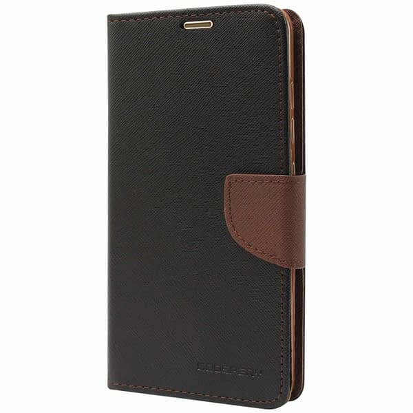 Royal Star Mercury Fancy Diary Card Wallet Flip Case Back Cover for Samsung Galaxy A9 Pro (Black Brown) 1