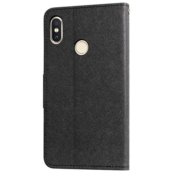 Royal Star Mercury Goospery Fancy Diary Card Wallet Flip Case Back Cover for Xiaomi Redmi Note 5 Pro (Black) 5