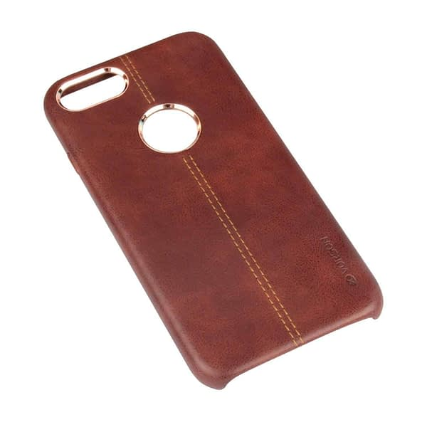 Vorson Pu Leather Case Shock Resistance Protective Back Cover Case for (Apple iPhone 7 (Vorson Back Cover), Brown) 8
