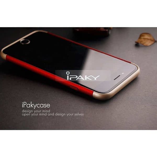 iPaky 3 Piece Hybrid Protective Back Case Cover for Apple iPhone 6 Plus / 6S Plus - Red 6