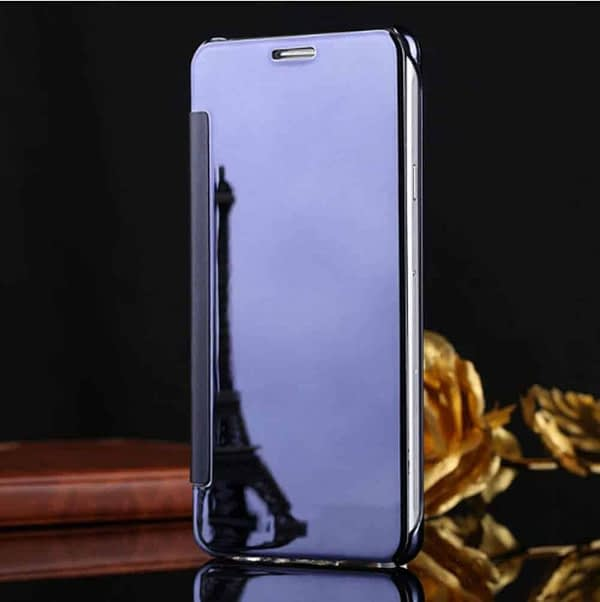 Royal Star Luxury Clear View Mirror Flip Smart Cover Case for (Samsung Galaxy Note 4, Dark Blue) 3