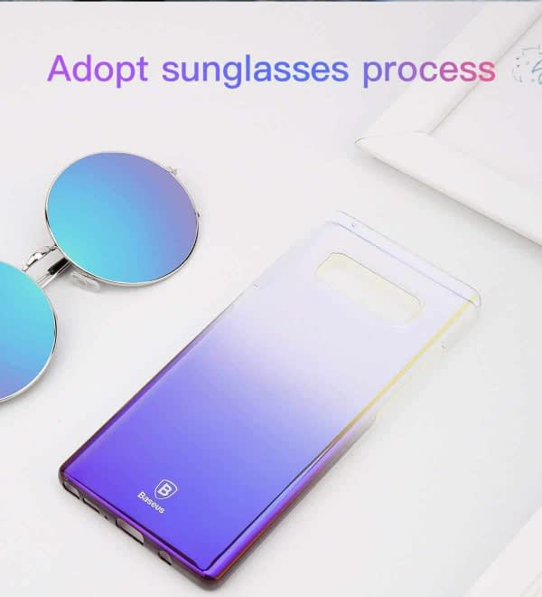 """Baseus Glaze Colorful Case For """"SAMSUNG Galaxy Note 8"""" Ultra Thin Anti-scratch Shockproof Double Colors PC Protective Back Cover Case For SAMSUNG Galaxy Note 8 - Purple 3"""