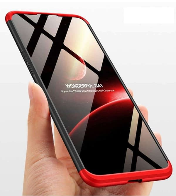 Royal Star 3 in 1 Luxury Design Full Body Protection Hybrid Matte Finish Hard Bumper Back Cover Case (OnePlus 6T, Black & Red (3 in 1)) 10