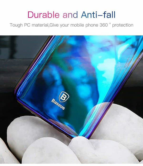 Baseus Glaze Colorful Case Ultra Thin Anti-Scratch Shockproof Double Colors Hard Plastic PC Protective Back Cover Case for Samsung Galaxy (Samsung Galaxy S9 Plus, Blue) 5