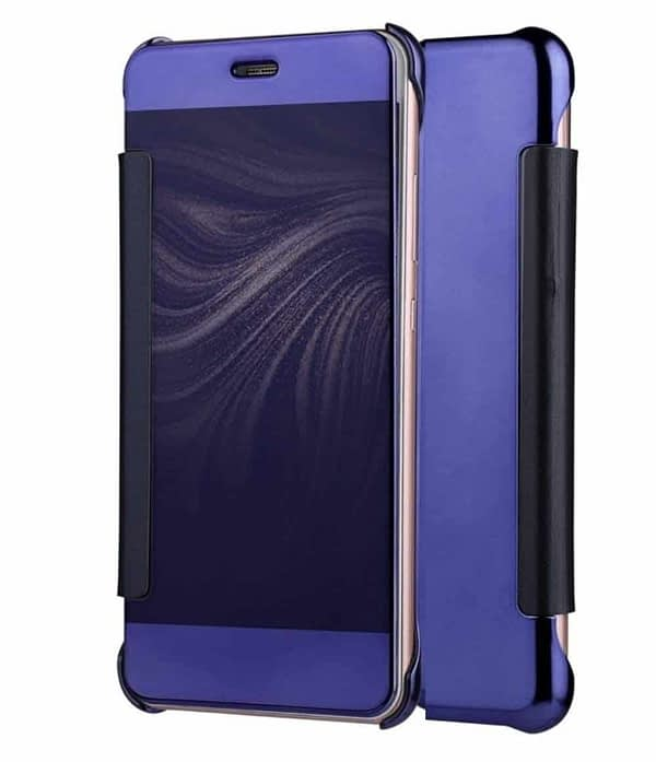Royal Star Luxury Clear View Mirror Flip Smart Cover Case for (Samsung Galaxy Note 4, Dark Blue) 1