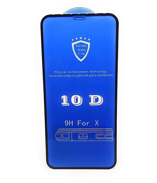 Royal Star 10D Curved 9H Full Coverage Edge to Edge Screen Tempered Glass Protector Guard for Apple iPhone X (Black) 1