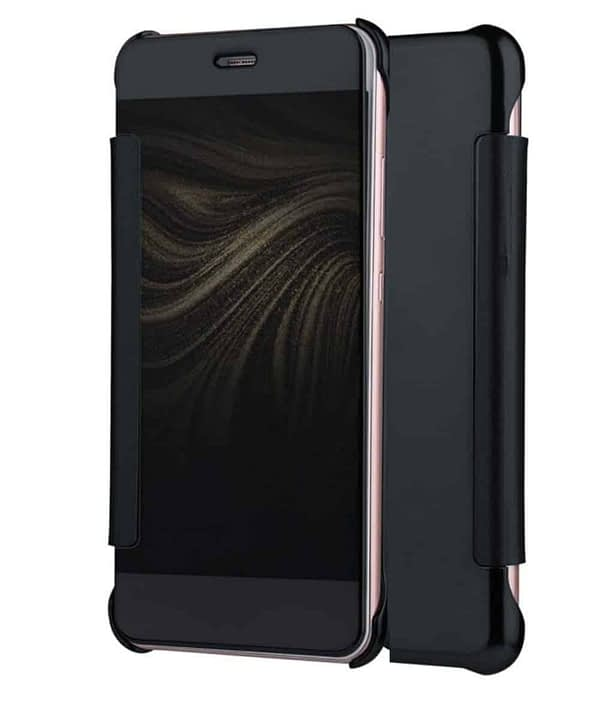 Royal Star Luxury Clear View Mirror Flip Smart Cover Case for (Samsung Galaxy S8, Black) 1