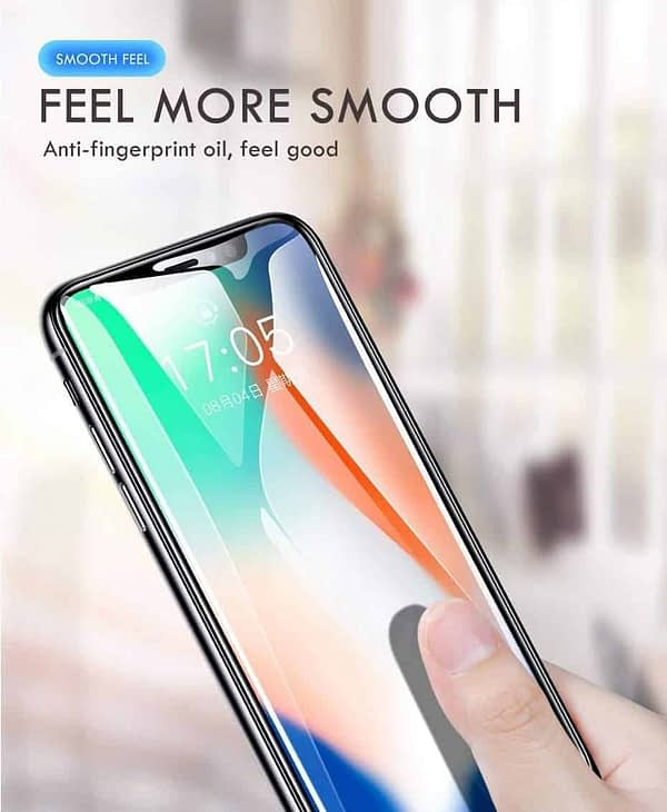 """Royal Star 9D Curved (Zero Feel 0.18mm) (Ultra Thin) 9H Full Coverage Screen Tempered Glass Protector Guard for (Apple iPhone X/Apple iPhone Xs (5.8""""), Black) 5"""