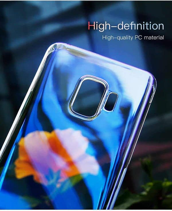 Baseus Glaze Colorful Case Ultra Thin Anti-Scratch Shockproof Double Colors Hard Plastic PC Protective Back Cover Case for Samsung Galaxy (Samsung Galaxy S9 Plus, Blue) 4