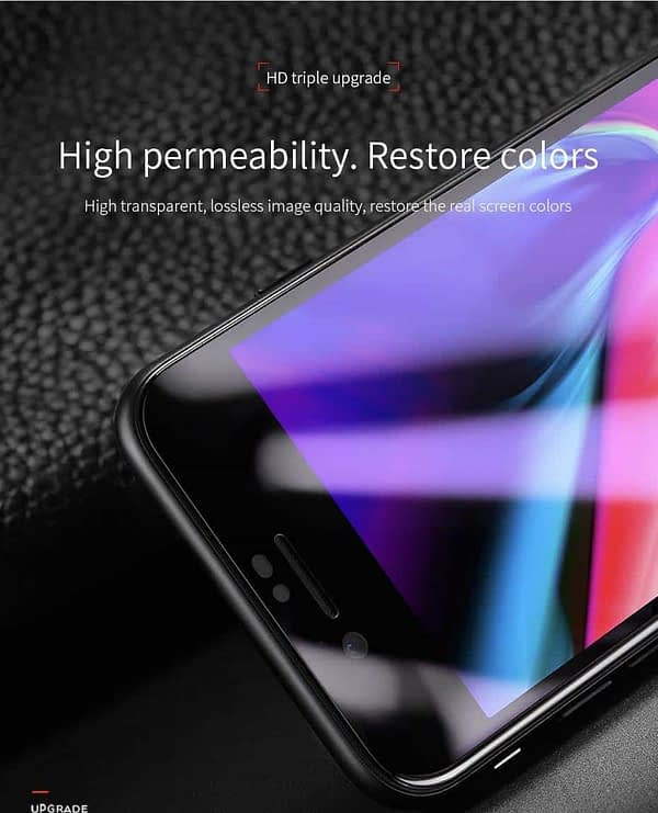 Royal Star 6D Curved Anti-Blue Ray 9H Full Screen Coverage Screen Tempered Glass Protector Guard for (Apple iPhone 7 Plus & Apple iPhone 8 Plus, Black) 4