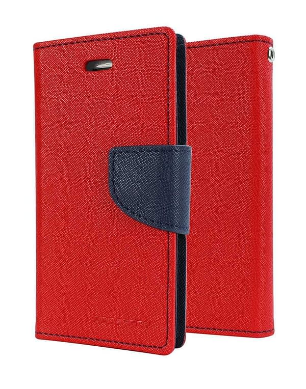 DW Mercury Fancy Diary CARD Wallet Flip Case Back Cover for Micromax Canvas HD A116 ( Red ) 1
