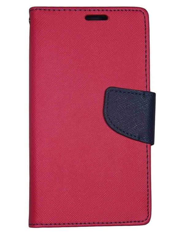 J.N. Mercury Fancy Diary Card Wallet Flip Case Back Cover For Micromax Doodle3 A102 (Pink) 1