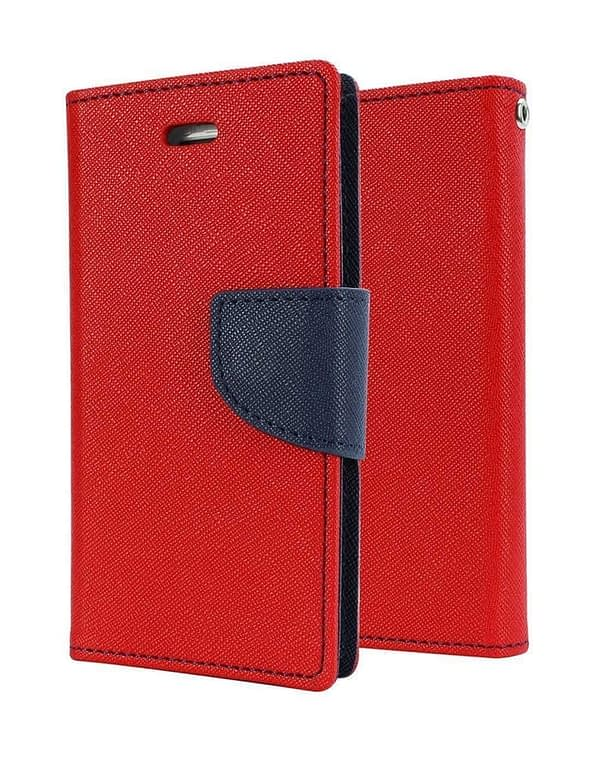 J.N. Mercury Fancy Diary Wallet Style Flip Cover Case for Micromax Canvas Spark Q380 (Red) 1