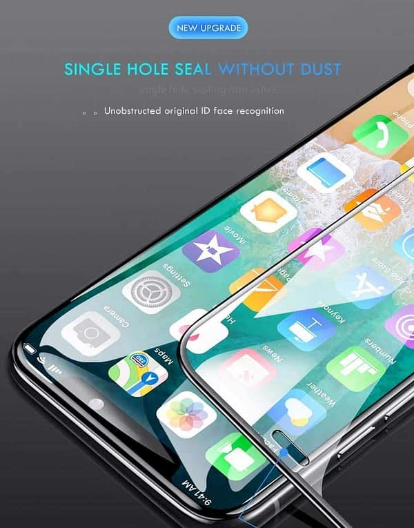 """Royal Star 9D Curved (Super Anti- Finger Print) (Ultra-Fast Exhaust) 9H Full Coverage Screen Tempered Glass Protector Guard for (Apple iPhone Xs Max (6.5""""), Black (Super Anti-Fingerprint)) 9"""
