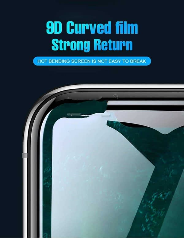 "Royal Star 9D Curved 9H Full Screen Coverage Tempered Glass Protector Guard for Apple iPhone X / 10 / Apple iPhone Xs (5.8"") (Black) 7"