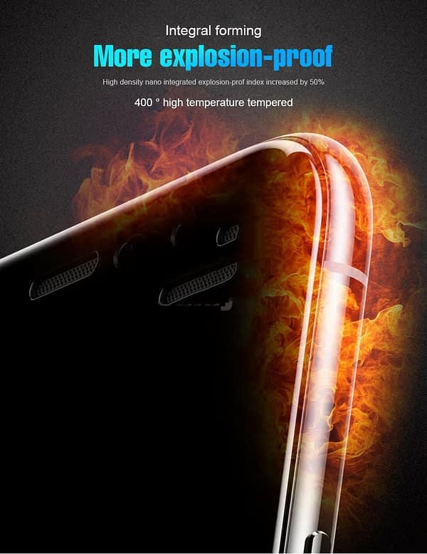 """Royal Star 9D Curved 9H Full Screen Coverage Tempered Glass Protector Guard for Apple iPhone X / 10 / Apple iPhone Xs (5.8"""") (Black) 6"""