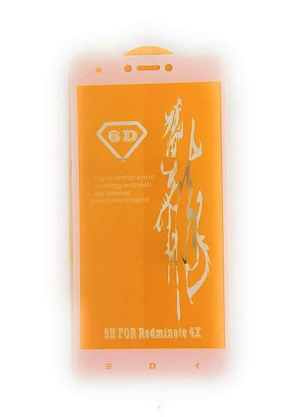 Royal Star 6D Full Glue 9H Full Coverage Edge to Edge 2.5D Curved Screen Tempered Glass Protector Guard for (Xiaomi Redmi Note 4, White) 3