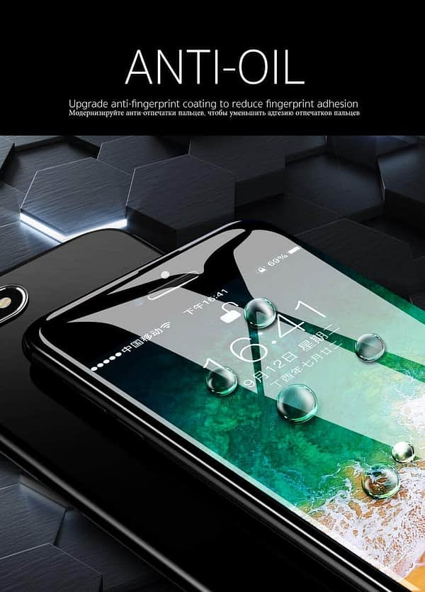 Royal Star 10D Curved 9H Full Coverage Edge to Edge Screen Tempered Glass Protector Guard for Apple iPhone X (Black) 6