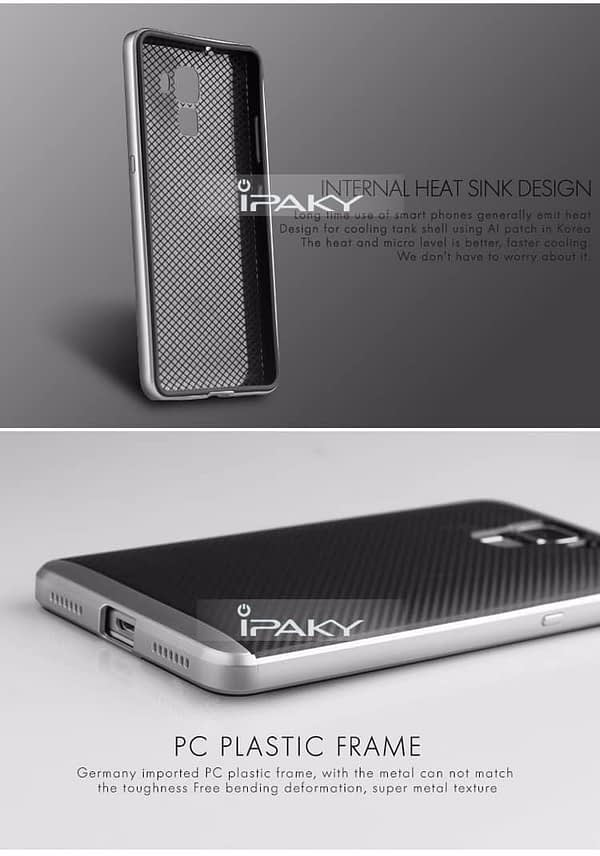 iPaky Premium Silicon Back & PC Frame Case for Huawei Honor 7 - Grey 3