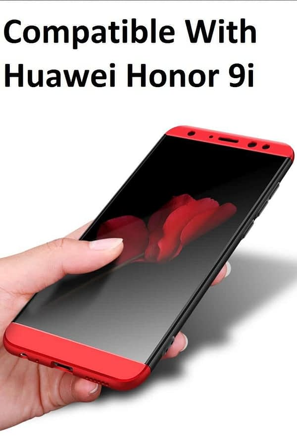 Royal Star Luxury Design Full Body 3-in-1 Slim Fit Complete 360 Degree Protection Hybrid Matte Finish Hard Bumper Back Cover Case for Huawei Honor 9i 1