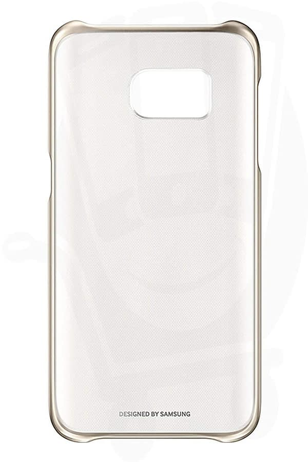 Samsung Galaxy S7 case clear cover GOLD 1