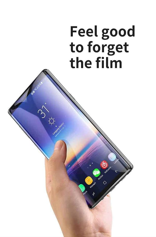 Royal Star 5D Curved 0.2mm Thin 9H (Full Glue) Screen Tempered Glass Protector Guard for (Samsung Galaxy Note 9, Black) 10