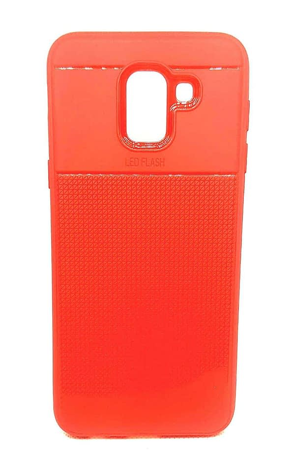 Royal Star Half Checkers Design Super Slim Flexible Soft TPU Back Cover Case for (Samsung Galaxy J6 (2018 Model), Red) 1