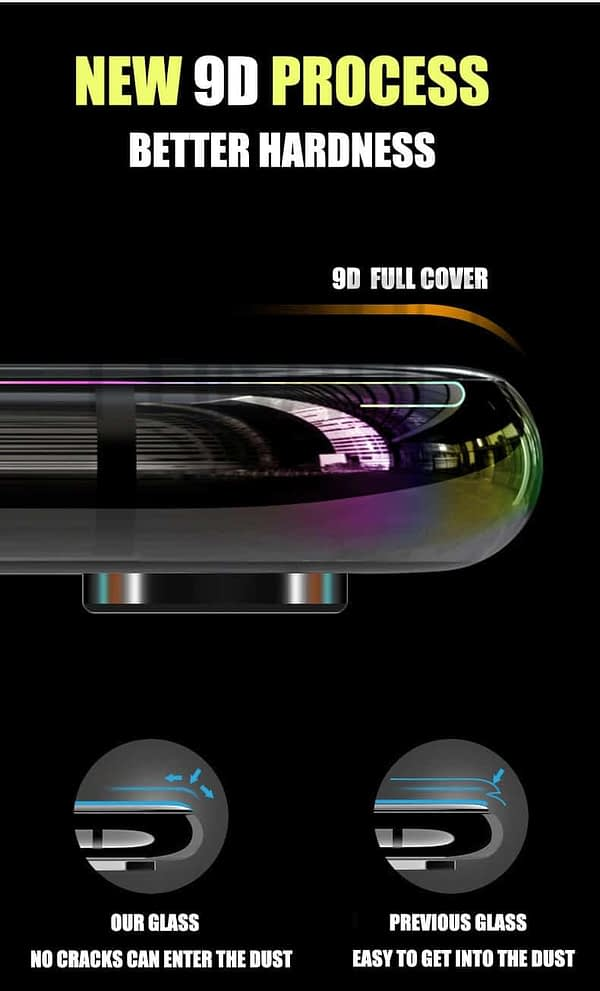Royal Star 9D Curved 9H Full Coverage Edge to Edge Screen Tempered Glass Protector Guard for Apple iPhone 7 / iPhone8 (Black) 3