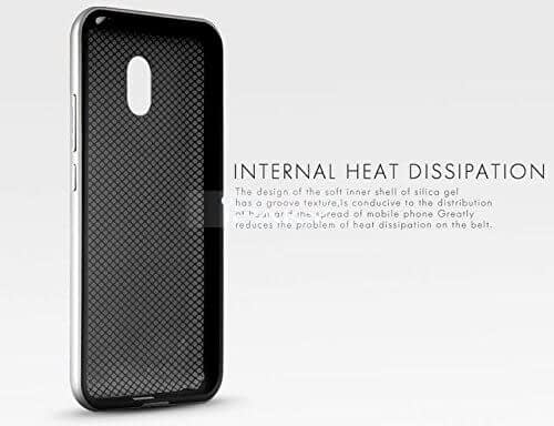 iPaky Soft TPU Back + Hard Plastic Hybrid Bumper Protective Case Cover for Meizu M2 Note - Silver 3