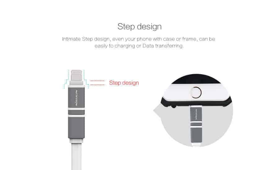 Nillkin Plus Ⅱ Cable 2 in 1 Lightning & Micro USB 2.1A, 1.2M Charging and data Transmission Cable 7