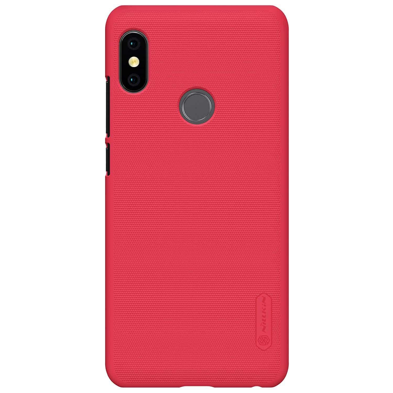 low priced b5873 01fa5 Nillkin Super Frosted Shield Hard Back Cover Case for Redmi Note 5 Pro  (Red) - www.buyforfamily.com
